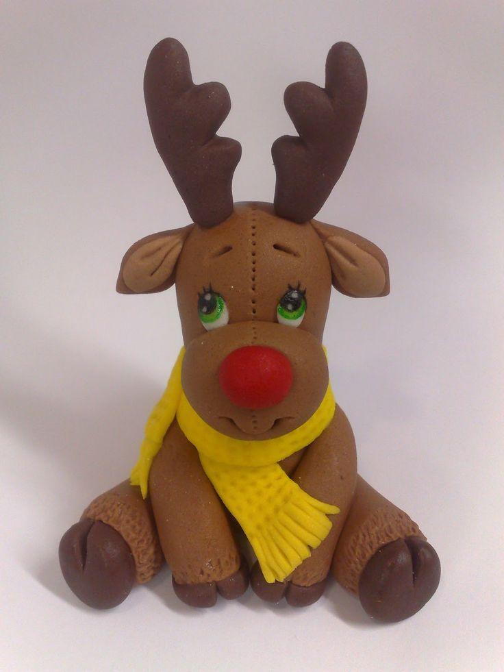 "Fondant+Reindeer | Studio ""FONDANT DESIGN ANA"" - Figurice za torte (fondant figures)"