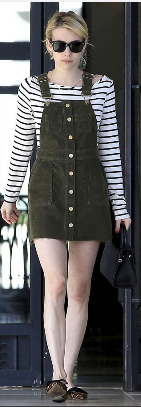 Emma Roberts in Dress – ASOS Shoes – Ann Taylor Purse – Dior Sunglasses – Warby Parker Shirt – Amour Vert