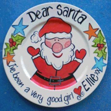 cute Santa plate