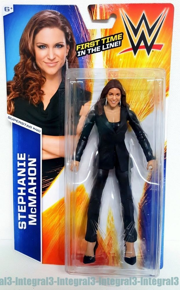 WWE First Time in the Line Stephanie McMahon Basic Wrestling Action Figure #40 #Mattel
