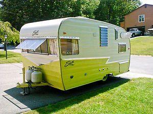 VINTAGE SHASTA CAMPERS | Vintage 1958 Shasta Airflyte Canned Ham restored camper in RVs ...