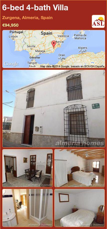 6-bed 4-bath Villa in Zurgena, Almeria, Spain ►€94,950 #PropertyForSaleInSpain