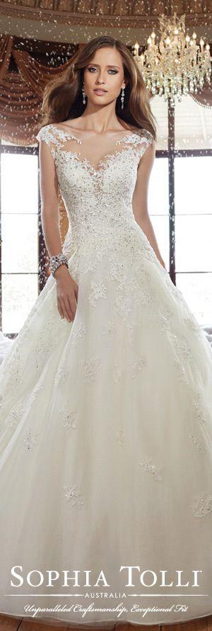The Sophia Tolli Fall 2015 Wedding Dress Collection - Style No. Y21509 www.sophiatolli.com #weddingdresses #weddinggowns