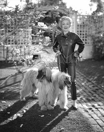 Marlene Dietrich at home, c. 1955.