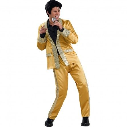 Mens Gold Elvis Costume