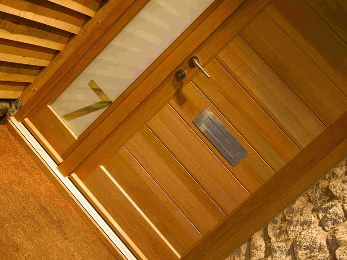 contemporary wooden front doors