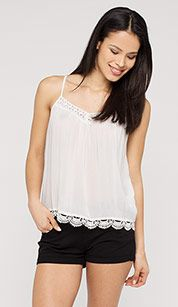 Transparentes Top in weiss