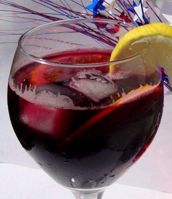Red Sangria Made Easy with Shiraz Wine & Sparking Lemonade