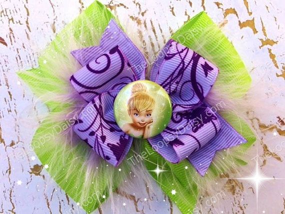 Tinkerbell Hairbow Tinkerbell Costume Princess by TheLoopsyDaisy
