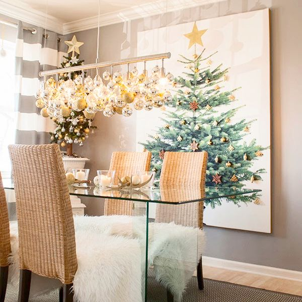 Making your own Ikea Margareta Christmas Tree Canvas is the perfect solution for small spaces that don't have the room for a traditional large Christmas tree.
