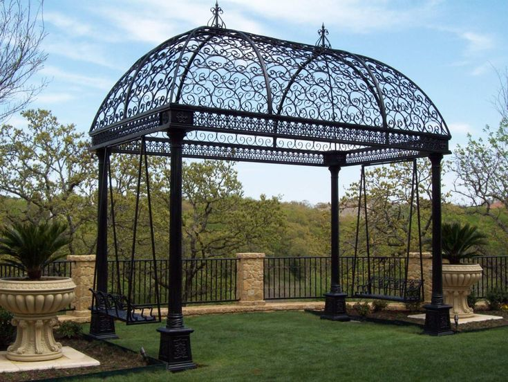 76 Best Wrought Iron Gazebos Arches Pergolas Images On Pinterest Iron Backyard
