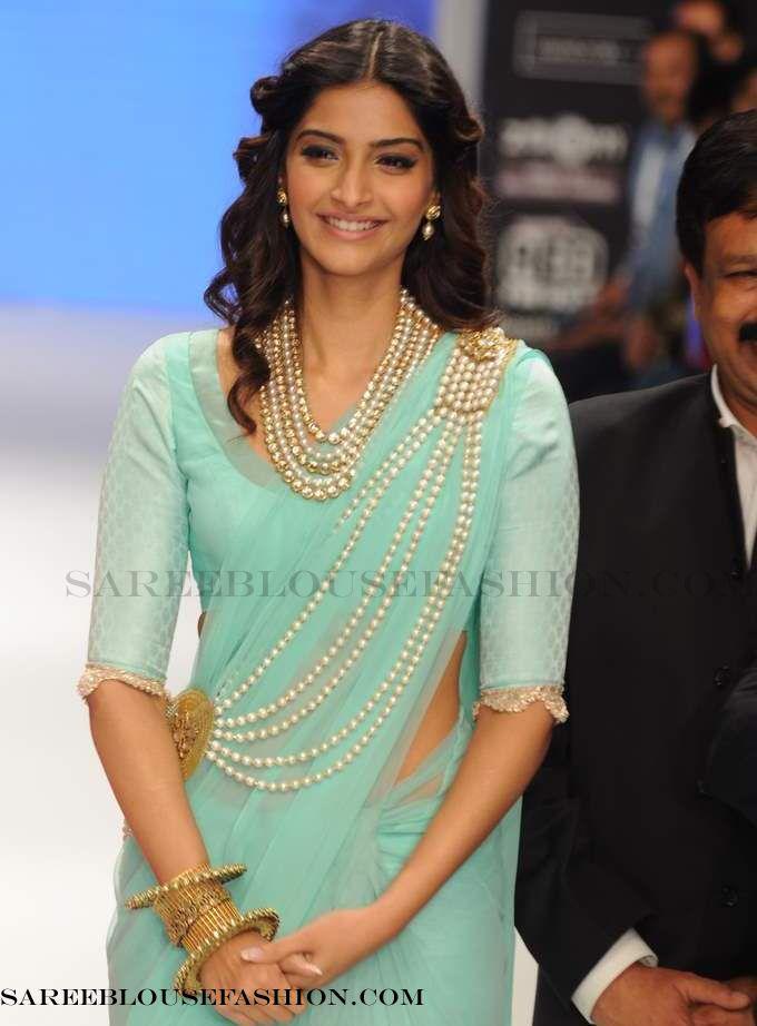Sonam Kapoor wears Manish Malhotra's ensemble  #women's apparel, #fashion, #saree