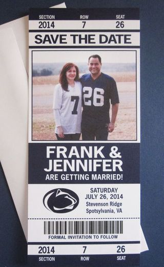 Include your Alma Mater into your Wedding :: Penn State Save the Date ::