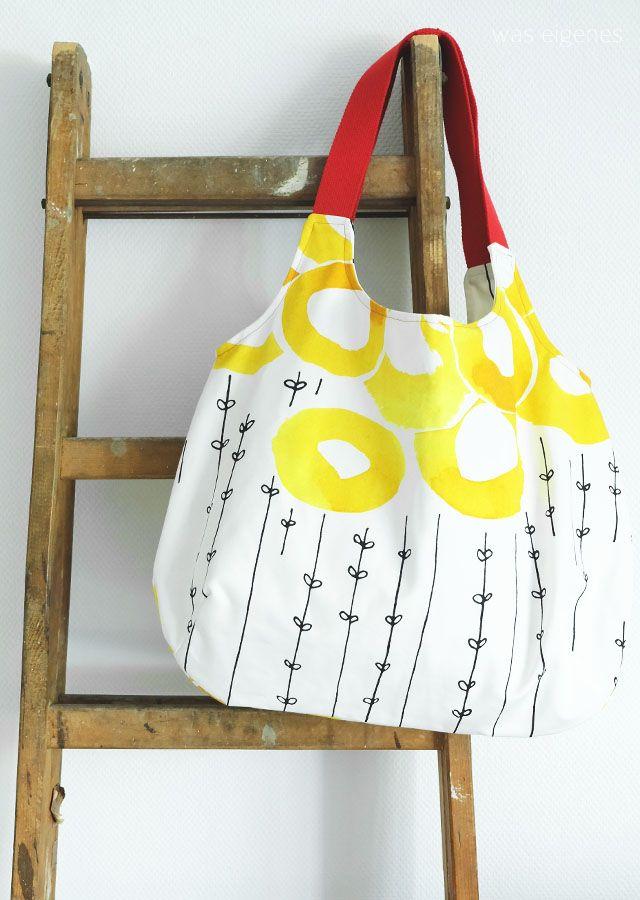 DIY Charlie Bag mit Gurtband und Futter | sewing a Charlie Bag by Burda Style with cotton webbing | was eigenes Blog