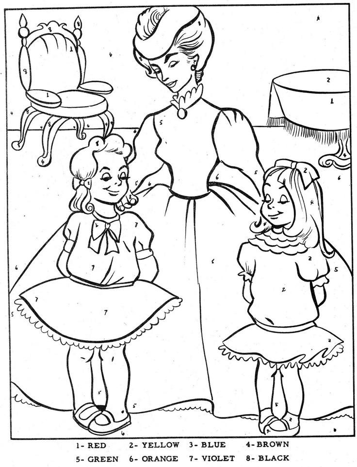 Color By Number Cinderella ActivitiesColoring BooksCinderellaVintage