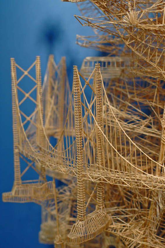Toothpick Sculpture 8 best cool toothpick art images on pinterest | toothpick