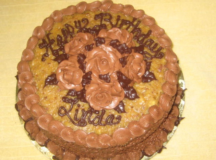 Daddy S Birthday Cake AKA German Chocolate Cake With Ganache