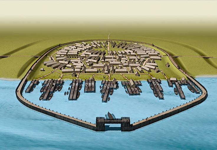 Jomsborg - fortresses of Vikings (rather international) established by dutch Kings near today Wolin (Poland); ca 1000AD conquered by Prince/King Boleslav the Brave of Poland