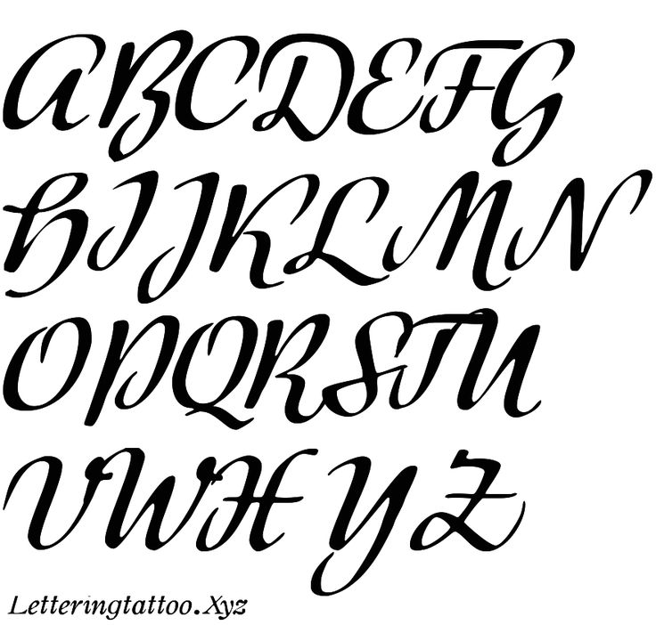 Handwritten Cutout Alphabets Stylish - Tattoo Lettering Fonts ...