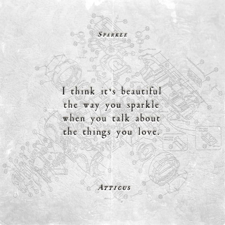 'Sparkle' #atticuspoetry