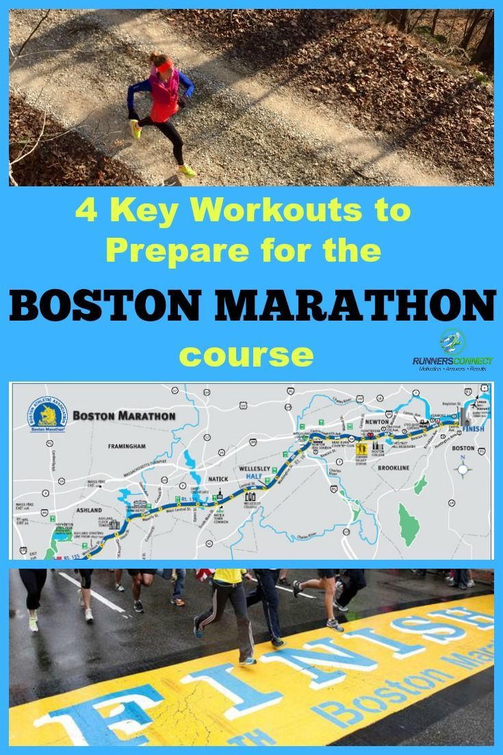 This article outlines the course-specific training and the 4 key workouts you need to perform in training to run your best at the Boston Marathon