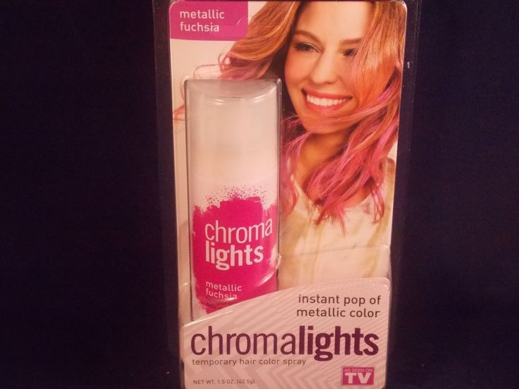 CHROMA LIGHTS Temporary Hair Color Spray INSTANT POP of METALLIC COLOR FUCHSIA #CHROMALIGHTS
