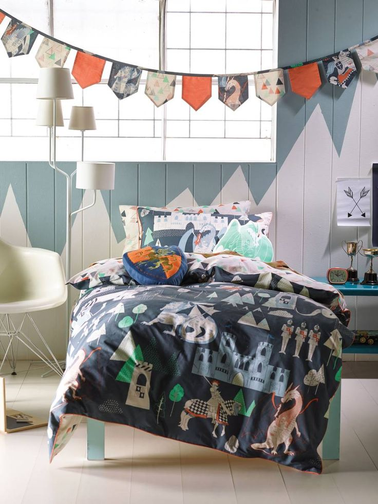 QUILT COVERS DRAGONOLOGY SINGLE GREY KIDS BEDDING