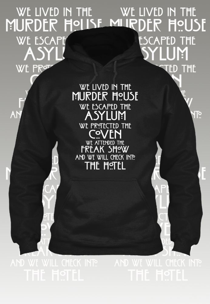 American Horror Story Five Seasons Hoodie. T shirts also available on the site. Available Here just click the image to see it now!  #AmericanHorrorStory