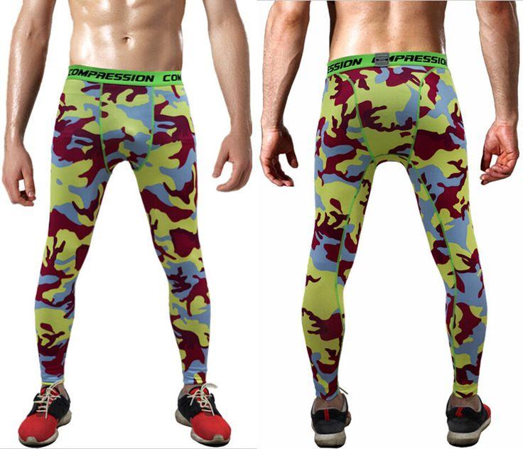 2016 Camouflage Pantalon Hommes Fitness Hommes Joggers Pantalon Mâle Pantalon De Compression Bodybuilding Collants Leggings