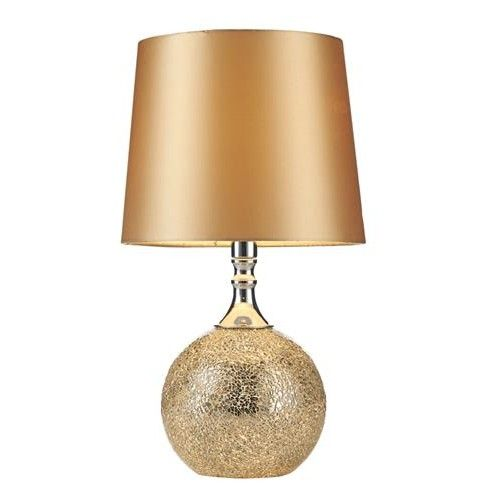 Wisebuys LOV4235 Lovell Gold Mosaic Table Lamp with Matching Shade (Dar Wisebuys LOV4235) - discounthomelighting