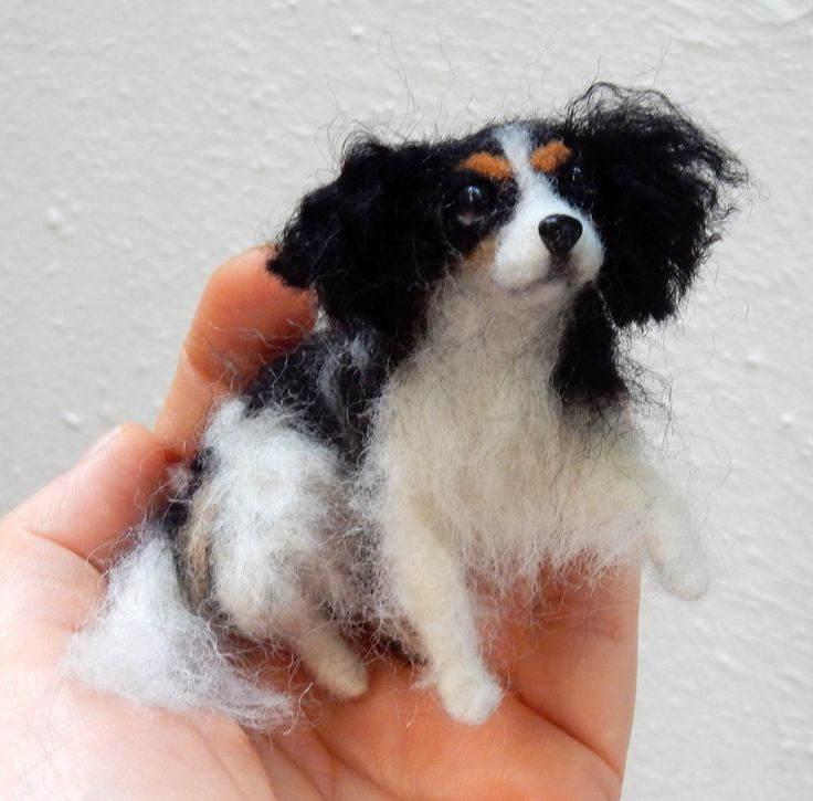 Welcome at the «Mini Soulmates». Based on pictures I create a replica of your dog. A look-alike felt with details you love. This miniature will unite you with your soul mate forever. A look in its eyes and you will smile. As a remembrance gift, my pet portraits offer new joy. They are needle felted with devotion and patience from wool or your dogs hair. My soft sculptures have a wire armature and can be put in different poses. They seem to be alive. My prices are for the length without the…