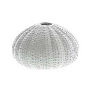 Urchin Ceramic Vase - Shiny White