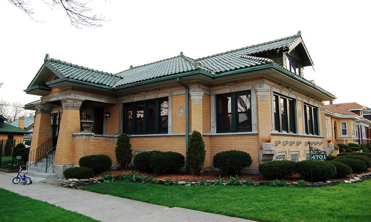 1924 chicago yellow brick bungalow house exteriors - What is a bungalow house ...