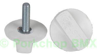 Kool Stop Intl'l old school BMX finned bicycle brake pad REFILLS (PAIR) - WHITE (EM-IRW)