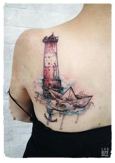 Die besten 25 leuchtturm tattoo ideen auf pinterest - Tattoo leuchtturm ...