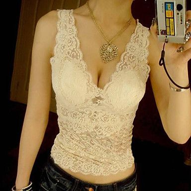 Blusa de encaje sexy de las mujeres - USD $ 10.19