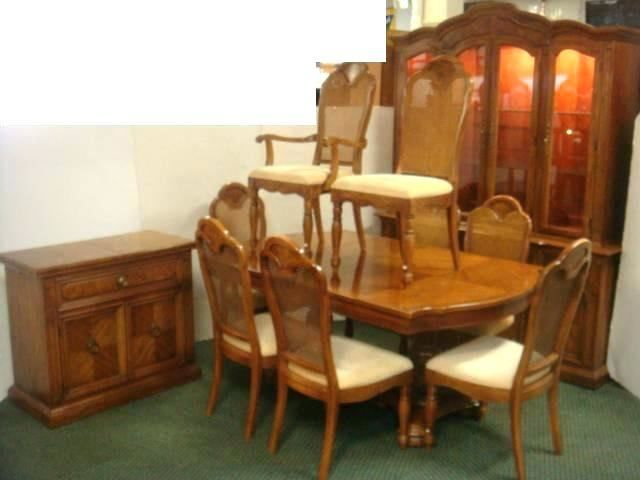 Vintage Thomasville Dining Room Set Metal Dining Room Chairs