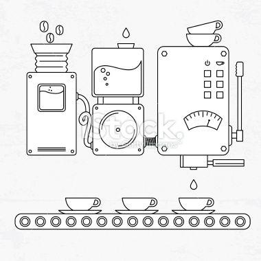 Coffee machine Royalty Free Stock Vector Art Illustration