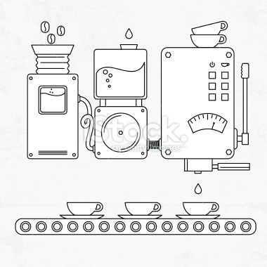 Coffee machine Royalty Free Stock Vector Art Illustration