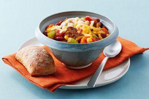 Ragoût du cow-boy à la mijoteuse - Un bol de chili bien chaud, ça fait du bien.