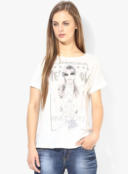 Buy People Off White T-Shirt for Women Online India, Best Prices, Reviews | PE138WA57TKGINDFAS