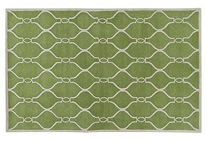 Great green rug.