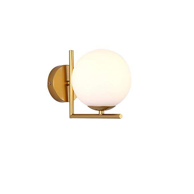 Kmyx Modern Round Glass Wall Light E27 High Brightness Simple