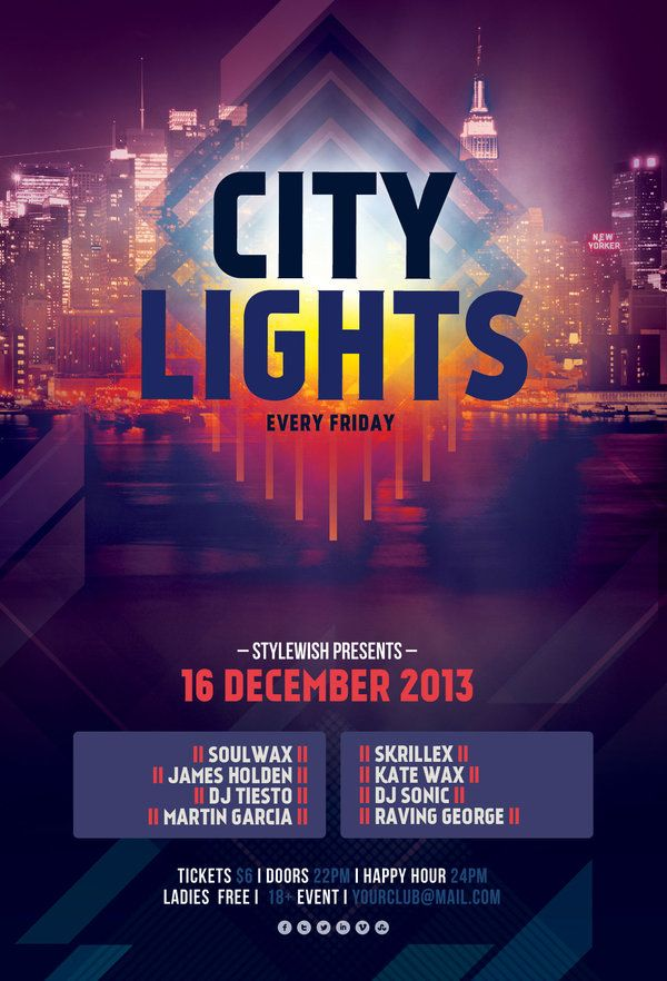 Best Nightclub Flyer Ideas Images On   Flyer Template