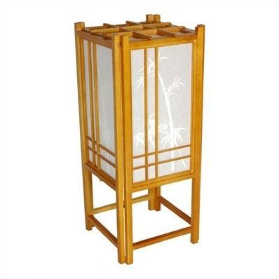 "Bamboo Tree Shoji 18"" Table Lamp"