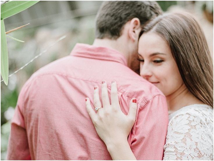Greenhouse engagement at Lincoln Park Conservatory   Nicole Jansma Photography