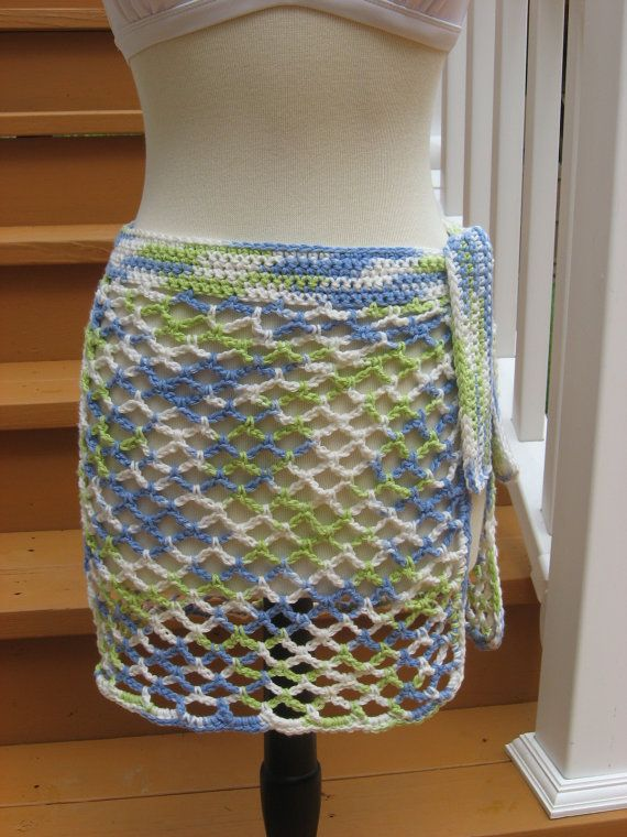 Crochet Pattern, Caribbean Breeze, swimsuit wrap, instant download available