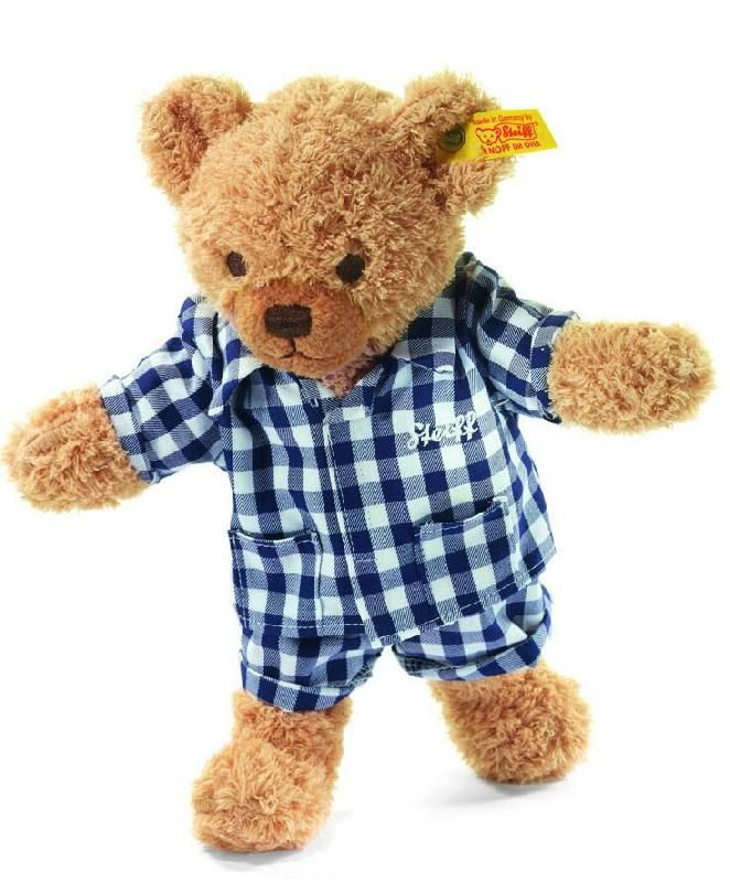 Lost on 18 Nov. 2016 @ Hay Street PH1 5HR Scotland. Lost a very loved Steiff bear with blue and white checked pj's... May have fallen out of the buggy on the way to shops. Used to look like the one in the photo...... Would love to get him back or at... Visit: https://whiteboomerang.com/lostteddy/msg/4uxyzd (Posted by David on 20 Nov. 2016)