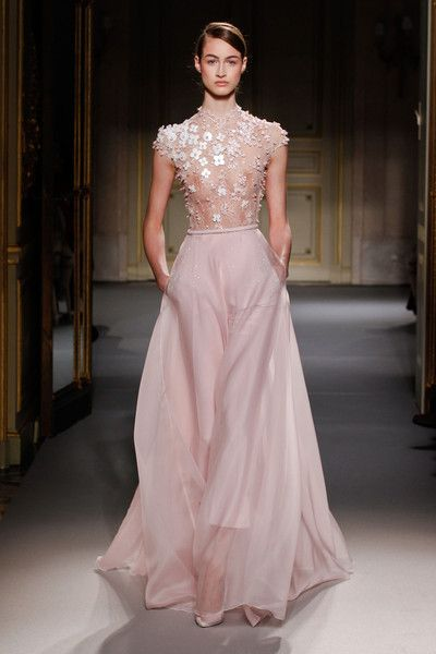 Georges Hobeika Couture Spring 2013. Image from ImaxTree. Via Style Bistro.