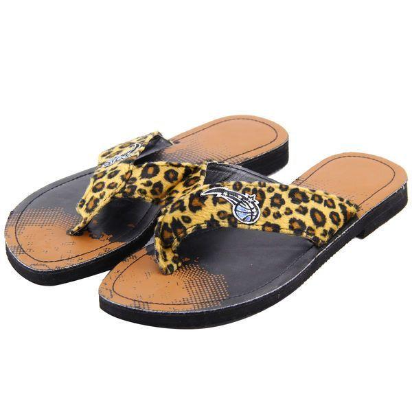 Orlando Magic Women's Cheetah Strap Flip Flops - $9.99